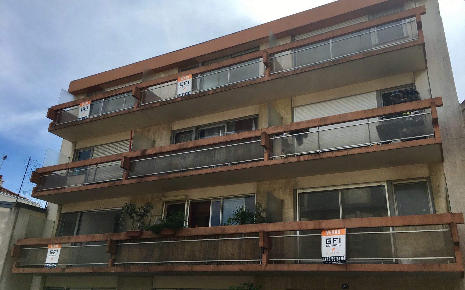 Façade de l'immeuble avant travaux